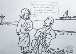 christ and pathrose (cartoon)